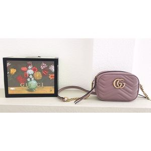 Handbags - Leather marmont  matelasse mini  bag . NWOT